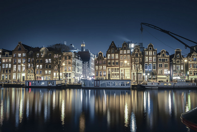 Nighttime Amsterdam. Credit: Stefano Montagner.