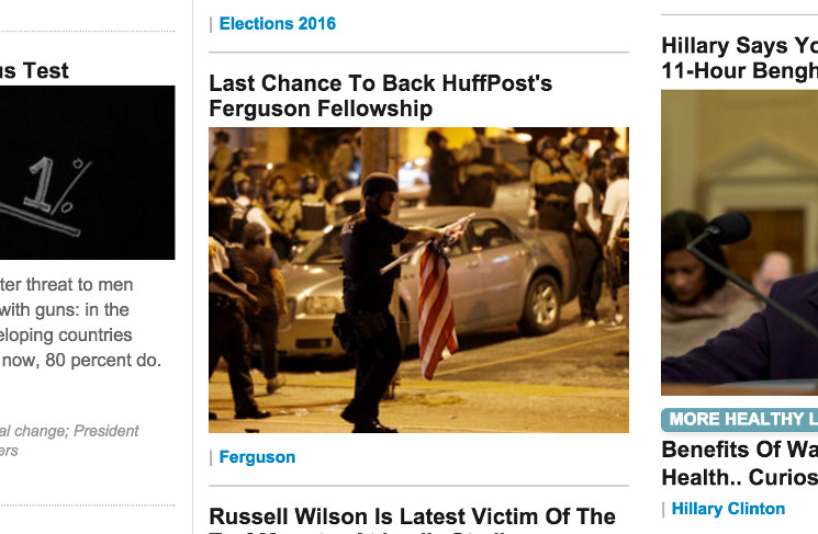 In final push, HuffPost uses front page to call for Ferguson ...